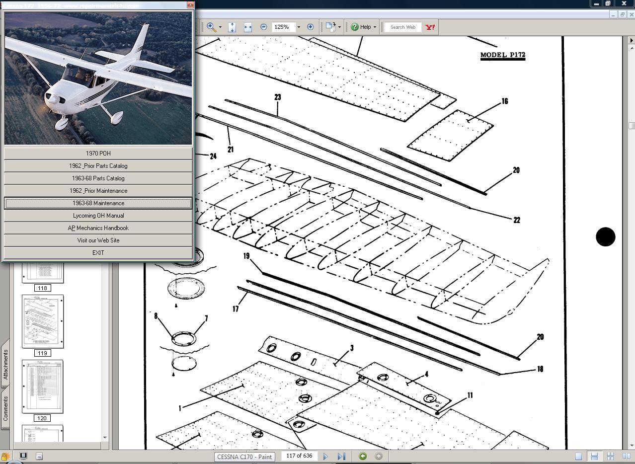Thumbnail Cessna 172 & Skyhawk manual set + engine to 56-68